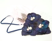 Home Room MANNERS Flower Fascinator - Vintage Style Matilda Jane MJC Inspired Made to Match M2M Fascinator Headband