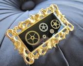 Neo Victorian - Steampunk Ornate Frame Pin - Brooch