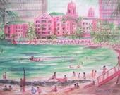 Royal Hawaiian Hotel 2000, a fine PRINT by Woody Chock