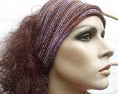 2 Headbands Head Wraps Summer cotton stripe midi size