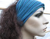 3 Summer Headwraps Ocean blue hand dyed Midi size wraps Your choice of colors