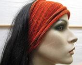 3 Eco Headwrap set Orange Red Rust Earth colors Outback Australia Midi size set