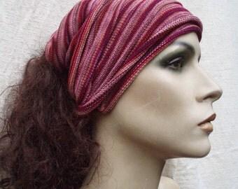 Headwrap Honeysuckle pinks Summer weight maxi size