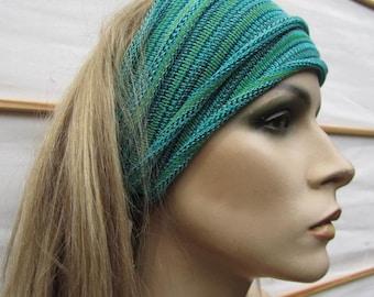 3 Summer Headwraps Sea Greens hand dyed eco Midi size wraps