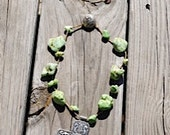 Large Cross with Lime Green Nugget