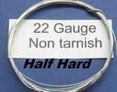 50ft 22gaHH Non Tarnish Nickel Silver round Half Hard jewelers wire