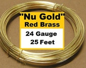 25ft 24g Red Brass wire Nu-Gold wire