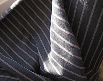 Mulberry pinstripe moleskin cotton - navy and grey - per yard