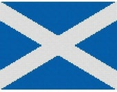 Scottish Flag Cross Stitch Kit
