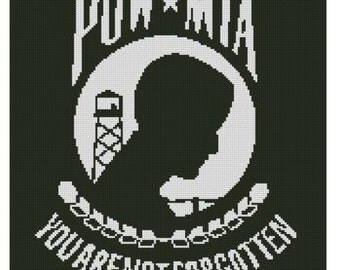 POW MIA Cross Stitch E-Pattern