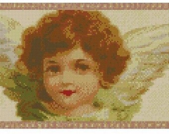 Smiling Cherub Cross Stitch E-Pattern