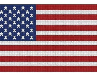 American Flag Cross Stitch E-Pattern