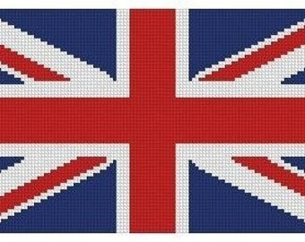 United Kingdom Flag Cross Stitch E-Pattern