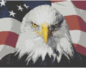 American Eagle Cross Stitch Kit