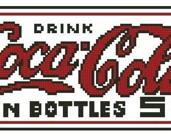 Classic Coke Sign Cross Stitch E-Pattern