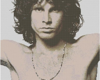 Jim Morrison Cross Stitch Kit