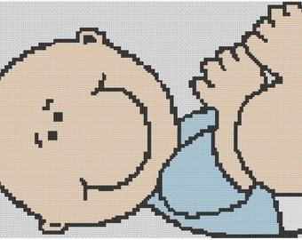 Baby Boy Cross Stitch E-Pattern