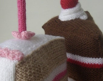 knitting pattern for  LARGE Birthday Cake and Gateau pdf