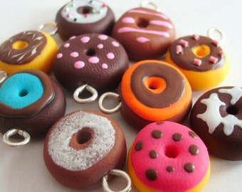 10 sweet donut charms