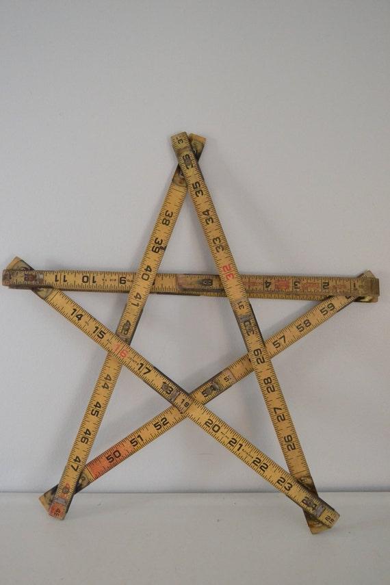 lufkin vintage folding ruler