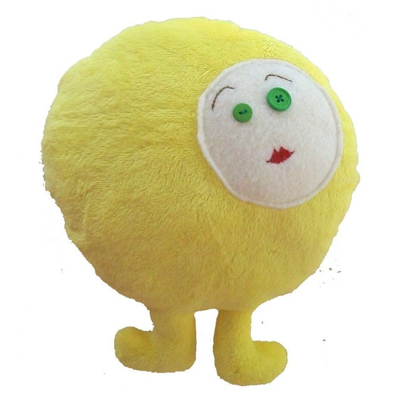 SALE!!!! Sweet yellow Softie pillow plush with FREE SHIPPING
