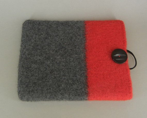 New iPad and IPad 2 Sleeve Hand Knit and Felted Tablet Cozy