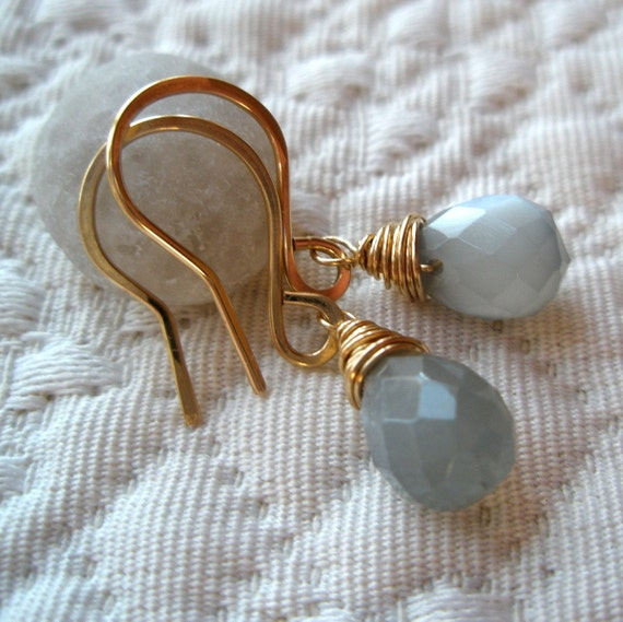 Gray Moonstone Drops
