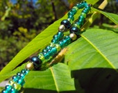 RESERVED Metallic Oak  - Beaded Rhythm Bead