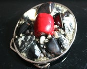 Red Raider - Mixed Media Belt Buckle