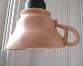Peach Teacup Light