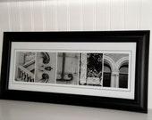 Alphabet Letter Art- Photography Letters- Personalized Alphabet Photo Letter Art 10x20- Black and White- UNFRAMED Name- Wedding