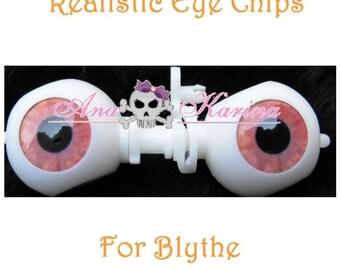 OOAK custom REALISTIC Blythe eye chips set F33, by Ana Karina WATERPROOF