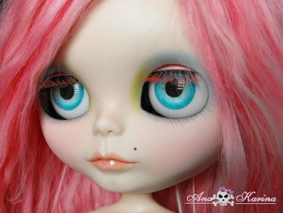 OOAK custom Blythe eye chips set D13, by Ana Karina WATERPROOF
