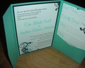 Pocketfold Wedding Invitation - Complete set with inserts