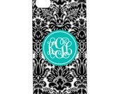 iPhone3 and iPhone4 Tough Case--Southern Damask Custom Color and Monogram