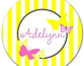 """Personalized 10"""" Melamine Plate-Fluttering Butterflies"""