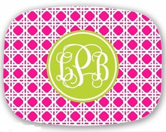 Personalized Melamine Platter-Caning with Custom Colors and Personalization