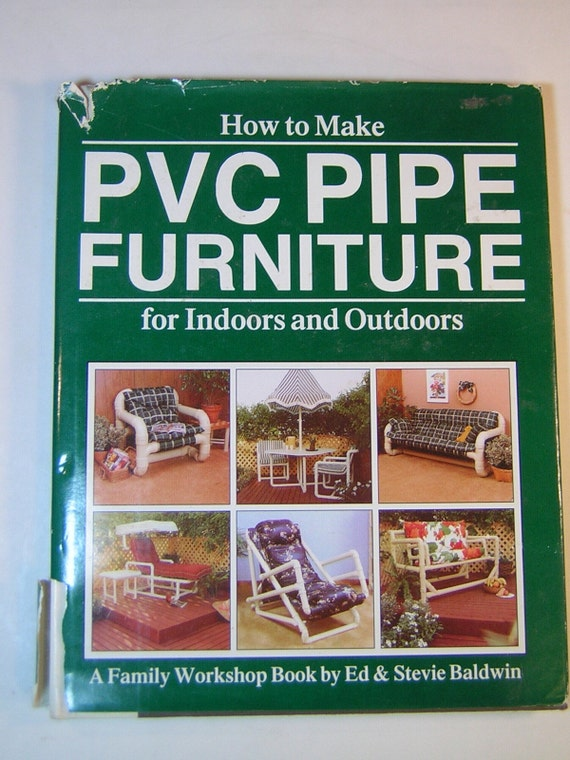 How To Make A Book Hardcover : How to make pvc pipe furniture for indoors and outdoors