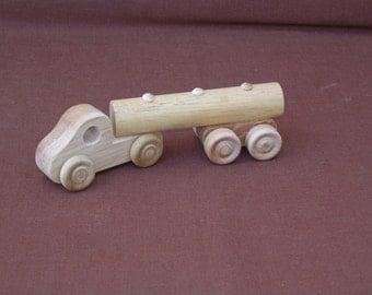 Wood Toy Truck--Tanker