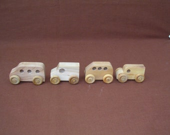 Toy Cars--Small Wood-Set B