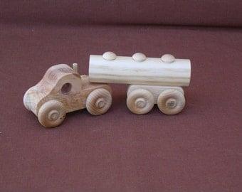 Wood Toy Truck--8-Wheeler-Tanker