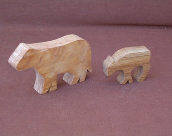 Cow--Wood toy