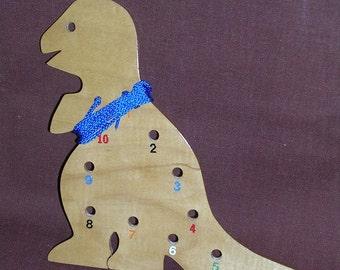 Lacing/Sewing Card - Dinosaur - A