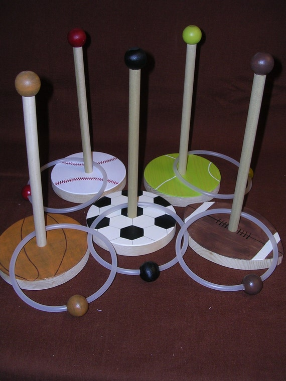Ring Toss Game--Sport Balls