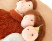 Family  - Wool Needle Felted Tapestry