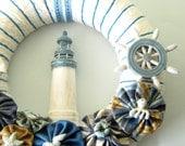 Nautical - Yarn Wreath 12 inches