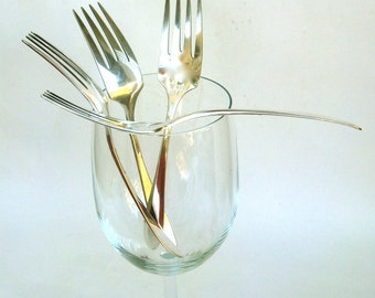 please pass me a  fork  ... 4  vintage silver forks