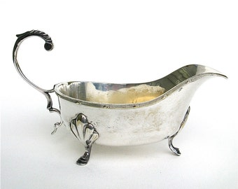 please pass the gravy    ...    vintage silver gravy boat  ...  sauce boat