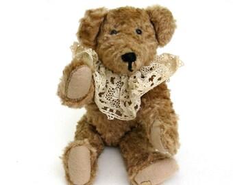 vintage  mohair teddy  ...   vintage artisan hand made teddy bear