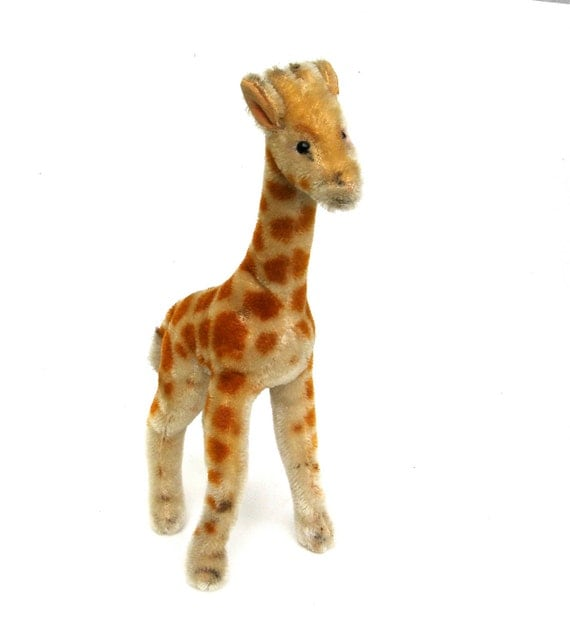 charming vintage steiff giraffe   ...   looking for a new home